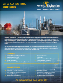 Norwest Engineering Refinery Experience